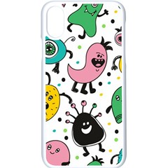 Cute And Fun Monsters Pattern Apple Iphone X Seamless Case (white) by allthingseveryday