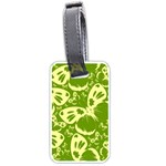 Pale Green Butterflies Pattern Luggage Tags (One Side)  Front