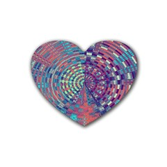 Gateway To Thelight Pattern 4 Heart Coaster (4 Pack)