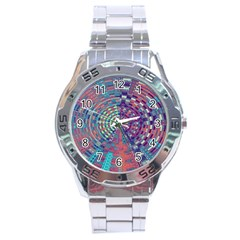 Gateway To Thelight Pattern 4 Stainless Steel Analogue Watch by Cveti