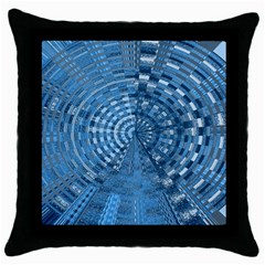 Gateway Pattern Blue 3 Throw Pillow Case (black) by Cveti