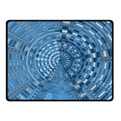 Gateway Pattern Blue 3 Double Sided Fleece Blanket (small)
