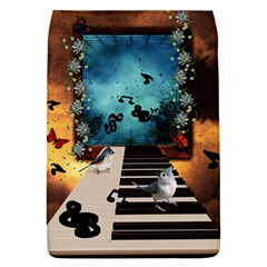 Music, Piano With Birds And Butterflies Flap Covers (l)  by FantasyWorld7