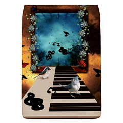 Music, Piano With Birds And Butterflies Flap Covers (s)  by FantasyWorld7
