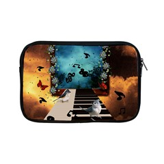 Music, Piano With Birds And Butterflies Apple Ipad Mini Zipper Cases by FantasyWorld7