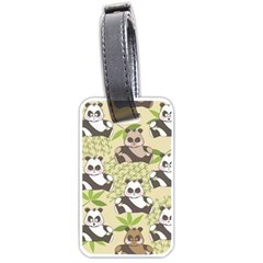 Fun Panda Pattern Luggage Tags (one Side)  by allthingseveryday