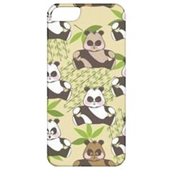 Fun Panda Pattern Apple Iphone 5 Classic Hardshell Case by allthingseveryday