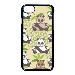 Fun Panda Pattern Apple Iphone 8 Seamless Case (black) by allthingseveryday