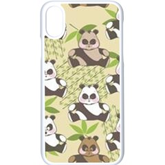 Fun Panda Pattern Apple Iphone X Seamless Case (white) by allthingseveryday