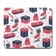 Christmas Gift Sketch Large Mousepads by patternstudio