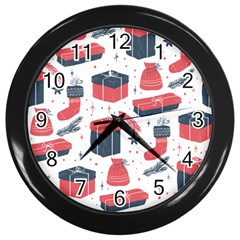 Christmas Gift Sketch Wall Clocks (black)