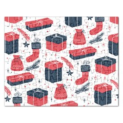 Christmas Gift Sketch Rectangular Jigsaw Puzzl by patternstudio