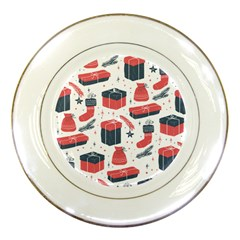 Christmas Gift Sketch Porcelain Plates by patternstudio