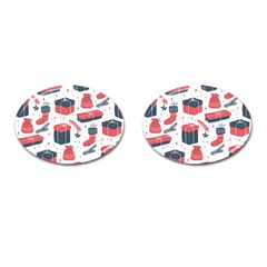 Christmas Gift Sketch Cufflinks (oval) by patternstudio