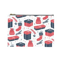 Christmas Gift Sketch Cosmetic Bag (large)  by patternstudio