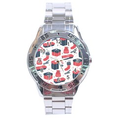 Christmas Gift Sketch Stainless Steel Analogue Watch by patternstudio