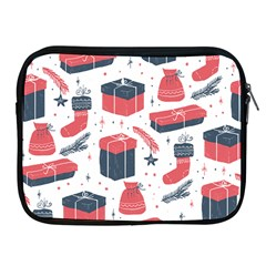 Christmas Gift Sketch Apple Ipad 2/3/4 Zipper Cases by patternstudio