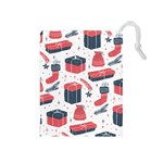Christmas Gift Sketch Drawstring Pouches (Medium)  Front