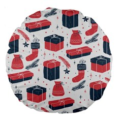 Christmas Gift Sketch Large 18  Premium Flano Round Cushions by patternstudio