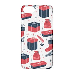 Christmas Gift Sketch Apple Iphone 7 Hardshell Case by patternstudio