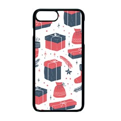 Christmas Gift Sketch Apple Iphone 7 Plus Seamless Case (black) by patternstudio
