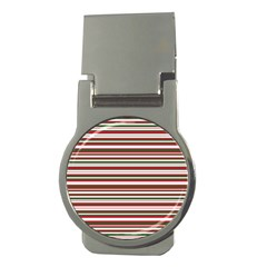 Christmas Stripes Pattern Money Clips (round)  by patternstudio