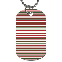 Christmas Stripes Pattern Dog Tag (one Side) by patternstudio