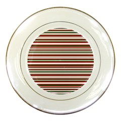 Christmas Stripes Pattern Porcelain Plates by patternstudio
