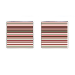 Christmas Stripes Pattern Cufflinks (square) by patternstudio