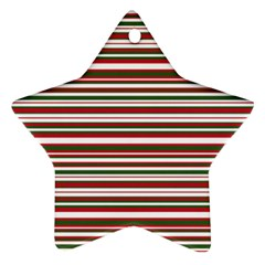 Christmas Stripes Pattern Star Ornament (two Sides) by patternstudio