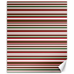 Christmas Stripes Pattern Canvas 8  X 10  by patternstudio
