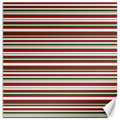 Christmas Stripes Pattern Canvas 12  X 12   by patternstudio