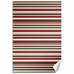 Christmas Stripes Pattern Canvas 12  X 18