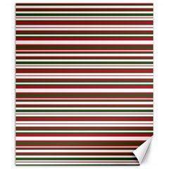 Christmas Stripes Pattern Canvas 20  X 24   by patternstudio