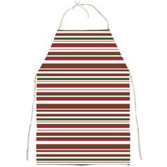 Christmas Stripes Pattern Full Print Aprons by patternstudio