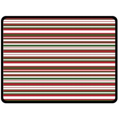 Christmas Stripes Pattern Fleece Blanket (large)  by patternstudio