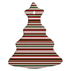 Christmas Stripes Pattern Christmas Tree Ornament (two Sides) by patternstudio