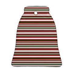 Christmas Stripes Pattern Bell Ornament (two Sides) by patternstudio