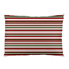 Christmas Stripes Pattern Pillow Case (two Sides) by patternstudio