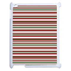 Christmas Stripes Pattern Apple Ipad 2 Case (white) by patternstudio