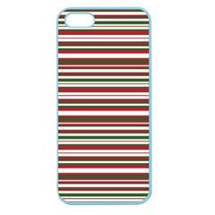 Christmas Stripes Pattern Apple Seamless Iphone 5 Case (color) by patternstudio