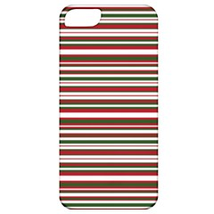 Christmas Stripes Pattern Apple Iphone 5 Classic Hardshell Case by patternstudio