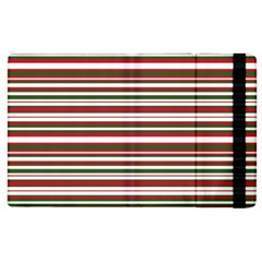 Christmas Stripes Pattern Apple Ipad 3/4 Flip Case by patternstudio