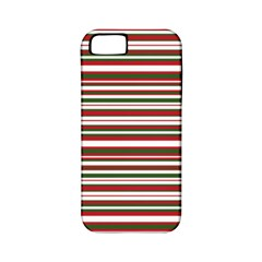 Christmas Stripes Pattern Apple Iphone 5 Classic Hardshell Case (pc+silicone) by patternstudio