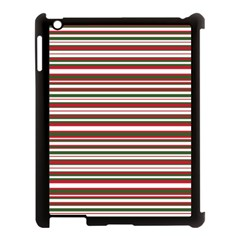 Christmas Stripes Pattern Apple Ipad 3/4 Case (black) by patternstudio