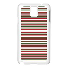 Christmas Stripes Pattern Samsung Galaxy Note 3 N9005 Case (white) by patternstudio
