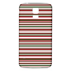 Christmas Stripes Pattern Samsung Galaxy S5 Back Case (white) by patternstudio