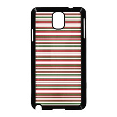Christmas Stripes Pattern Samsung Galaxy Note 3 Neo Hardshell Case (black) by patternstudio