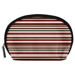 Christmas Stripes Pattern Accessory Pouches (large)  by patternstudio