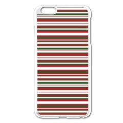 Christmas Stripes Pattern Apple Iphone 6 Plus/6s Plus Enamel White Case by patternstudio